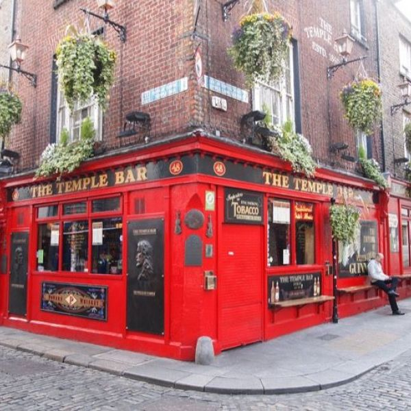 (Photo:) Temple Bar - Temple Bar on the south bank of the River Liffey is promoted as Dublin's